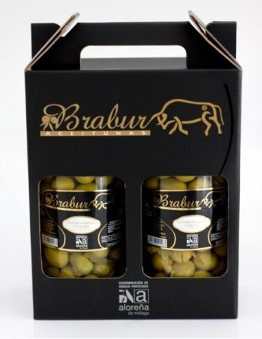 Pack of Brabur aloreña olives.